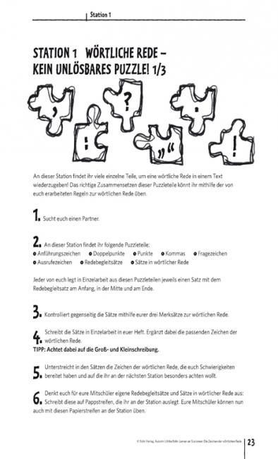 Satzzeichen Satzarten  Deutsch in der Volksschule